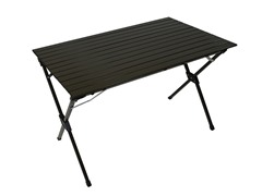 Tall Aluminum Portable Table, Brown