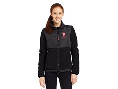 USPA Jrs Quilted Polar Fleece, Black
