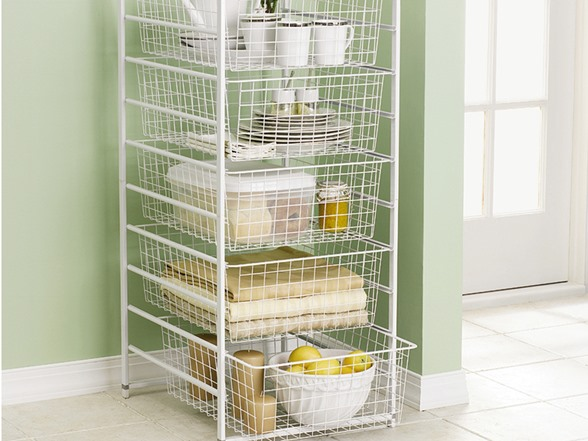 Rubbermaid 5 Drawer Wire Basket System
