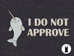 Disapproving Narwhal Tri-Blend Tank