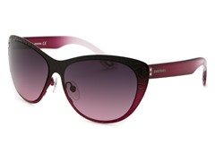 Women's Sunglasses, Black-Pink/Pink Gradient