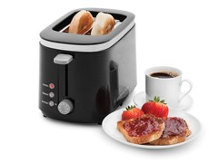 Wolfgang Puck 2-Slice Wide Slot Toaster: Black