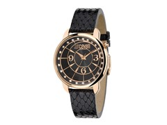 Just Cavalli Women's Trendy Black Leather Watch