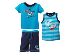 Shark 3-Piece Short Set (2T-4T)