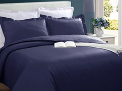 Microfiber Duvet Cover Set-Navy-2 Sizes