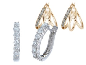 Diamond Hoop Earrings - Your Choice