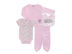 Pink 4-Pc Cardigan Layette (0-9M)