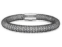 Mesh Bracelet w/ Sim. Diamonds