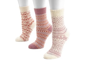 Women's Holiday 3 Pair Socks - 4 Styles