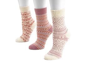 Women's Holiday 3 Pair Socks - 4 Styles