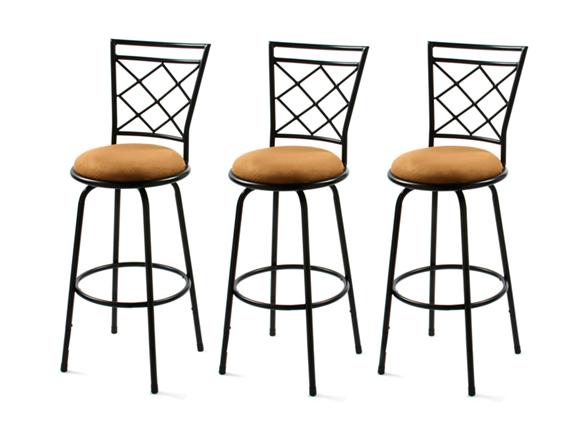avery adjustable bar stools set of 3. Black Bedroom Furniture Sets. Home Design Ideas