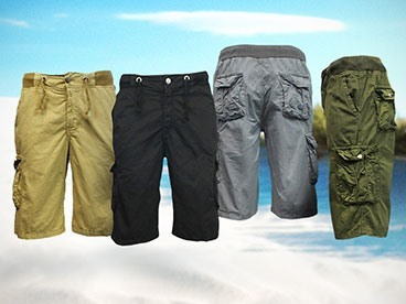 Harvic Ribbed Cargo Shorts