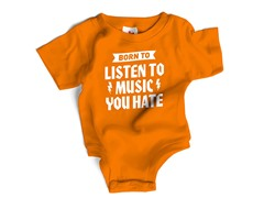 "Wrybaby ""Music You Hate"" Orange Bodysuit"