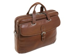 "Fontanella Leather Large 17"" Laptop Brief"