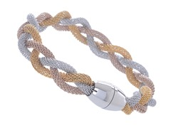 14K Gold Plated Braided Mesh Bracelet