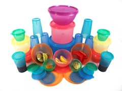 Fresh Keeper 44-pc Multi-Color Citrus Storage Set