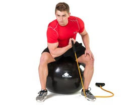 Black Mountain Resistance Bands & Stability Ball Bundle