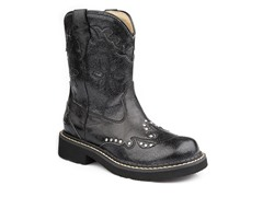 Ropers Girls- Black (Toddler 10)