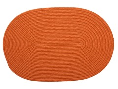 Rust Braided-Texture Rugs