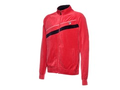 Fila Men's Diagonal Velour Jacket, Red