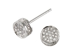 18kt Plated Rounbox CZ Earrings