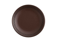 "K by Keaton Salad Plate 8.5"" Bark Set of 4"