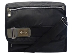 Cultura Canvas Messenger Bag, Black