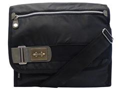 Cultura Canvas Messenger Bag, Black