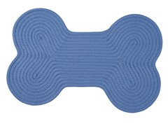 Blue Ice Dog Bone Solid Rug - 3 Sizes