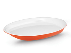 "14"" Oval Platter Orange or Green"