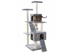 "GleePet 70"" Cat Tree Silver Gray"