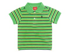 Green Striped Pique Polo (12M-24M)
