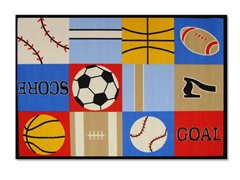 Ball Games Multi Rug