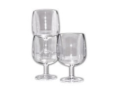 ABS Clear Plastic Wine Glasses, 12-Pack