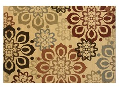 Emery Beige-Rust Floral Rug (Multiple Sizes)