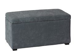 Blue Ottoman with Jewelry Tray
