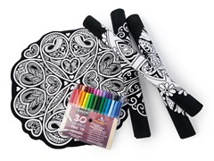 Velvet Mandala's 4 Pack + 30 Washable Markers