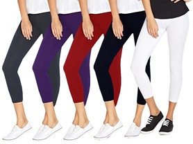 Haute Basics Women's 6 Pair Capri Leggings