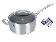 Kevin Dundon 3 QT Sauce Pot Silver/Black