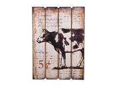 Home Essentials 5 Cent Cow Wall Art