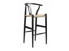 Wishbone Stool - Black