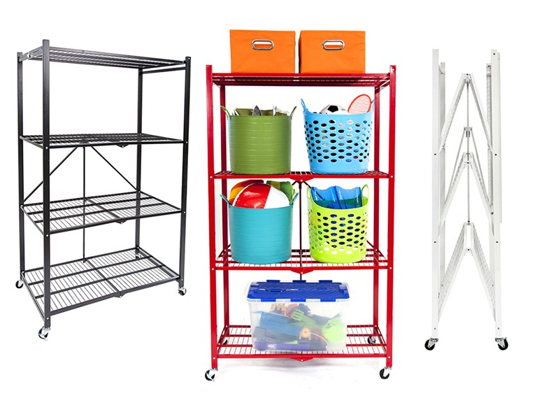 Set of Two Pop-It 4-Tier Shelves