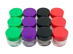 20 mL Color Coded Plastic Jars, 12-Pack