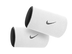 Premier Doublewide Wristbands - Black/White