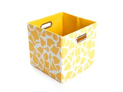 Rusty Giraffe Canvas Folding Storage Bin