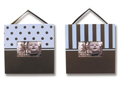 Blue and Brown 2-Piece Frame Set
