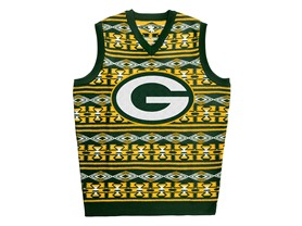 NFL Greenbay Packers Ugly Sweater Vest, Small