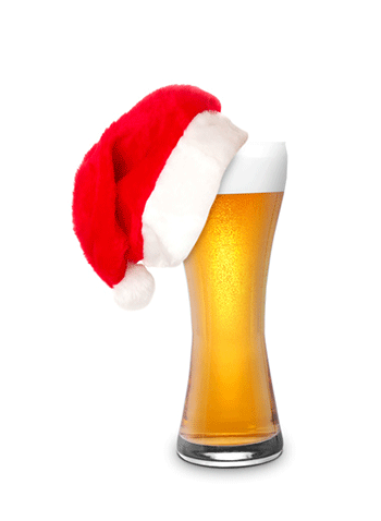 Image result for beer santa hat