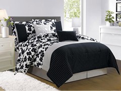 Leila 10 Piece Embellished Comforter Set- 2 Sizes