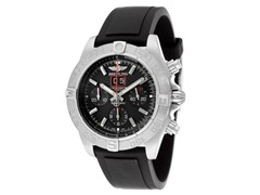 Breitling Black Rubber Chronograph